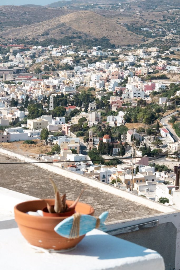 Syros Urlaub - View von Ano Syros
